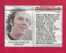 West Germany Franz Beckenbauer (DMHF)
